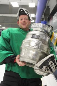 Nate Hadrick and the Michael Gall Cup